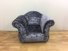 Children's/Kids Armchair in Lavender Crushed Velvet Fabric