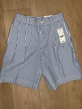 Brooks Brothers Boys blue cotton seersucker Shorts 6 NWT