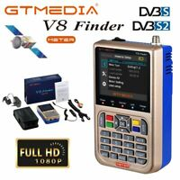 DE V8 Finder Satelliten-Finder FTA DVB-S2X Digital Satfinder HD MPEG-2 MPEG-4