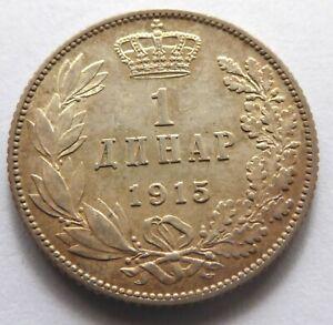 Kingdom Serbia – 1 dinar 1915 –Silver - Ruler Peter I – XF