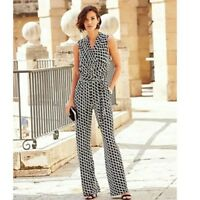 Joanna Hope Wide Leg Wrap Belted Waist Jumpsuit Size 20 NEW RRP £65 Playsuit