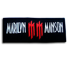 Marilyn Manson Patch Iron on Rock Band Vest Heavy Metal Music Musician Logo Punk