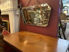 Art Deco Etched Deer Mirror