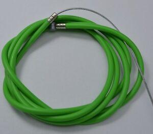 "NEW BICYCLE BIKE 1 Brake Cable 68"" + 1 Double Sheath Housing 60"" GREEN FREE CAPS"