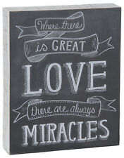 """Primitives by Kathy #23169 chalk art sign quote, """"Where There is Great Love..."""""""