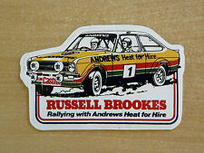 Russell Brookes / Andrews FORD ESCORT MK2 RALLY / Motorsport Adesivo Decalcomania