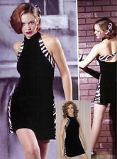 Black Velvet Dance Tap Costume Zebra Accent Dress & Briefs Clearance Adult Small