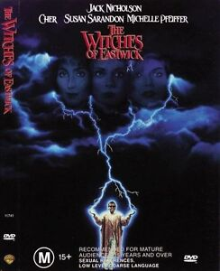 Witches Of Eastwick DVD 1987 Family Fantasy Witch Movie - CHER Jack Nicholson