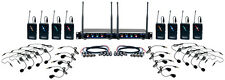 Vocopro Hybrid-Play8 8 Ch. UHF Hybrid Wireless Headset Lapel Mic System