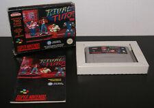 Nintendo Super Snes Rival Turf PAL FAH CIB Complete RARE