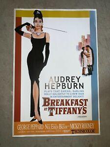 BREAKFAST AT TIFFANY'S - MOVIE POSTER 26.5x39.5 - CLASSIC AUDREY HEPBURN