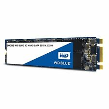 WD Blue 3D NAND 500GB PC SSD - SATA III 6 Gb/s M.2 2280 SSD - WDS500G2B0B