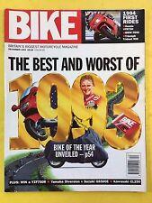 BIKE - December 1993 - The Best And Worst Of 1993 - Yamaha Diversion - Suzuki GS