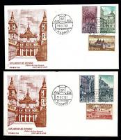 2 Sobres primer dia de España 1961 Real Monestario de San Lorenzo El Escorial