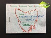 INTERESTING VINTAGE 1954 TASMANIAN GOV. TOUR PASS TRUNK LINES HOBART TICKETS BUS