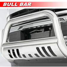 Stainless Bull Bar Grille Guard w/SKID Plate For 2007-2013 GMC Sierra 1500 LD