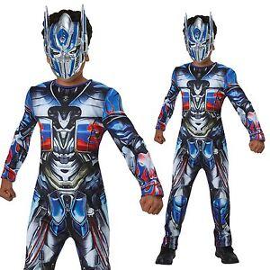Boys Optimus Prime Costume Transformers Last Knight Fancy Dress Superhero Outfit