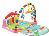 3 in 1 Baby Gym Play Mat Lay & Play Fitness Music And Lights Fun Piano Girl
