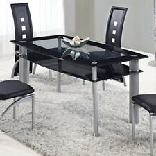 """Global Furniture Dining Table Black D1058NDTM Table 17"""" x 17"""" x 43"""" NEW"""