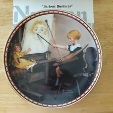 Serious Business Norman Rockwell collectors plate A Mind of Her Own Girlhood