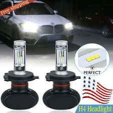 H4 LED Headlight Bulbs Kit Replace High Low Beam 6500K White CSP 50W 8000Lm