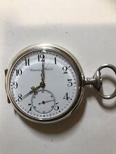 High Grade IWC Movement Full Jewles Chrono Swiss Men's Pocketwatch 41mm Diameter