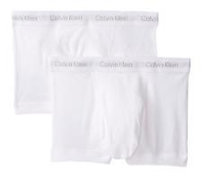 $58 CALVIN KLEIN UNDERWEAR MEN WHITE NB1119 BOXER BRIEFS 2-PACK TRUNKS SIZE S