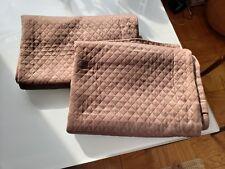 Restoration Hardware Brown Diamond Pique Standard Pillow Shams 100% Cotton Pair