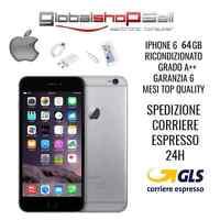 APPLE IPHONE 6 64GB GRADO A++ GREY GRIGIO ORIGINALE RIGENERATO RICONDIZIONATO
