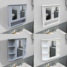 WestWood Wall Mount Mirror Bathroom Cabinet Unit Storage Cupboard With Shelf