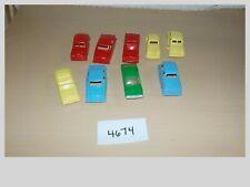 Tyco Ho Scale Plastic Cars Lot (9) Multi-Color Model Train Layout Lot #4674