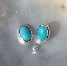Amazonit Ohrring, 925er Silber, Edelstein Ohrring (686), Edelsteinschmuck