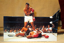 "Muhammad Ali vs. Mike Tyson Boxing Match Tabletop Display Standee 10 3/4"" Long"
