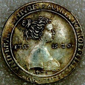 Europian Medieval coin medal Maximilian and Maria commemorative C+630