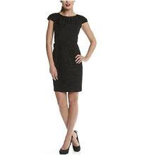 NWT-$128 NINE WEST ~Size 6~ Lace Overlay Sheath Dress Size 6 Classic! Cap Sleeve