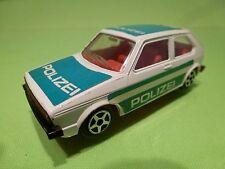 NOREV JET-CAR VOLKSWAGEN GOLF - POLICE POLIZEI - WHITE 1:43 RARE - GOOD