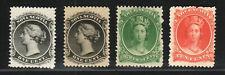 1860 Canada Nova Scotia SC 8, 8a, 11 & 12 Queen Victoria, Lot of 4 - MNH