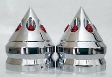 Kawasaki ZX6 ZX10 ZX14 ZX14 636 900 Fork Covers Caps Chrome Red Anodized