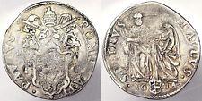 TESTONE PAOLO V 1605-1621 ANNO II STATO PONTIFICIO ARGENTO SILVER #PF189