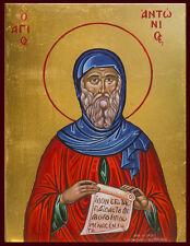 Icon Saint Antony St. Anthony Byzantine Greek Christian Orthodox Catholic