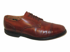 Allen Edmonds Cap Toe Brogue Derby Dress Shoes Mens Sz 11.5 D USA Made Brown