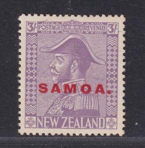 Samoa SG 170 Scott 155a VF LH NZ 3/- Pale Mauve Admiral Overprinted SCV $62.50