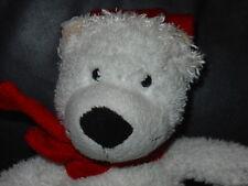 """KINDER SORPRESA UOVO FERRERO White Christmas Natale orso morbido peluche giocattolo 9"""""""