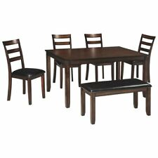 Signature Design Coviar 6 Piece Dining Set in Brown