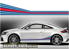 Audi Martini side racing stripes 004 vinyl graphics stickers A1 S1 TT A3 S3