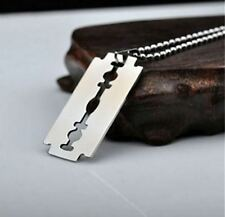 collar para Hombre moda  acero inoxidable titanio colgante Regalo de lujo Plata