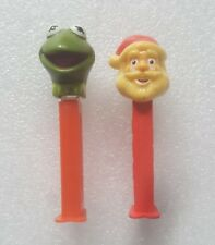 2 Vintage Muppets Kermit The Frog Christmas Santa Clause Pez Candy Dispensers
