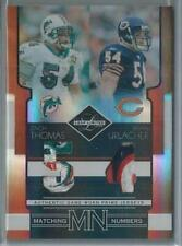 2006 LEAF LIMITED MATCHING NUMBERS ZACH THOMAS/BRIAN URLACHER DUAL PATCH 10/25!!