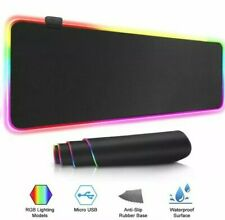 LED Extra Large Soft Gaming Mouse Pad RGB Oversize Glowing Mice Pad 31.5 X 11.8