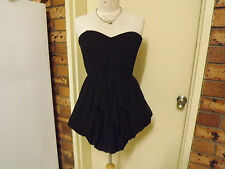 Foxx Foe Strapless Balloon Hemmed Mini Dress sz 12